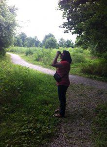 Amy bird watching