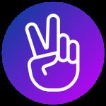 Peace hand signal